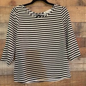 The Impeccable Pig black and white top, size small